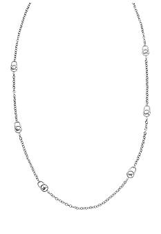 Michael Kors Jewelry Silver Station Long Necklace