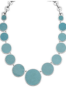 Michael Kors Jewelry Silver and Turquoise Necklace