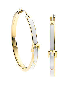 Michael Kors Jewelry Bedford Buckle Medium Hoop Earring