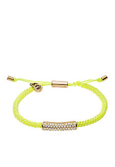 Michael Kors Jewelry Pave and Yellow Macrame Bracelet