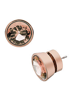 Michael Kors Jewelry Large Stone Rose Gold Earrings