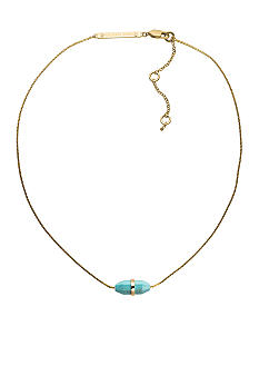 Michael Kors Jewelry Gold and Turquoise Geode Necklace