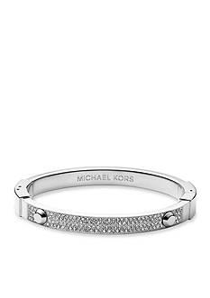 Michael Kors Silver-Tone Pave Hinge Astor Stud Bracelet
