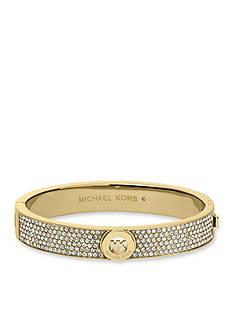 Michael Kors Gold Tone Fulton Hinge Bangle Bracelet
