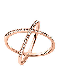 Michael Kors Rose Gold-Tone X Ring