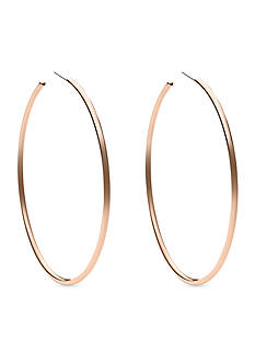 Michael Kors Rose Gold-Tone Large Delicate Hoop Earring