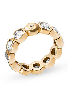 Michael Kors Gold-Tone Crystal Embellished Statement Ring