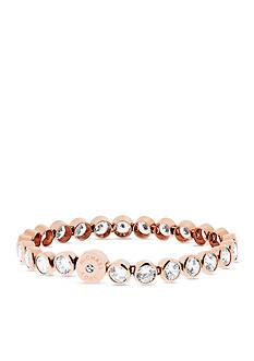 Michael Kors Rose Gold-Tone Cubic Zirconia Delicate Bracelet