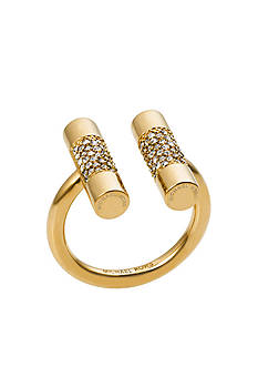 Michael Kors Gold-Tone Pave Crystal Ring
