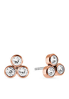 Michael Kors Rose Gold-Tone Cubic Zirconia Earrings