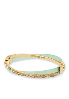 Michael Kors Gold-Tone and Mint Acetate Criss-Cross Bracelet