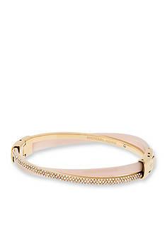 Michael Kors Gold-Tone and Blush Acetate Criss-Cross Bracelet