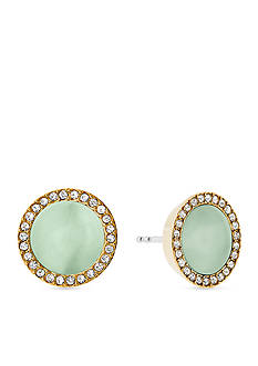 Michael Kors Gold-Tone and Mint Acetate Earring