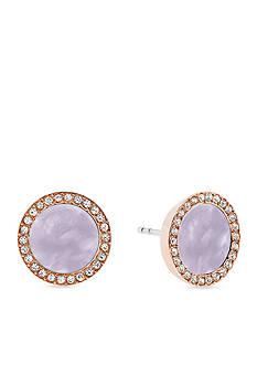 Michael Kors Lavender Acetate Halo Stud Earring