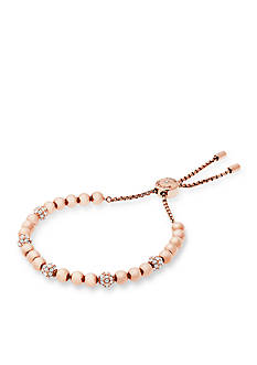 Michael Kors Rose Gold-Tone Slider Bracelet