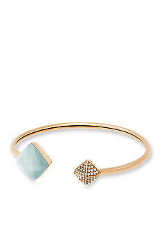 Michael Kors Gold-Tone and Semi Precious Amozonite Stone Cuff Bracelet