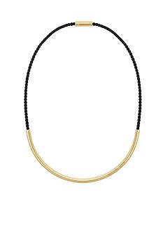 Michael Kors Jewelry Gold-Tone and Black Magnetic Necklace