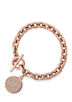 Michael Kors Rose Gold-Tone Toggle Bracelet