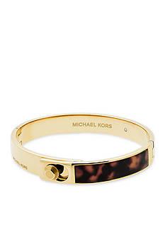 Michael Kors Gold-Tone Tort Acetate Bangle Bracelet