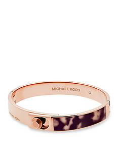 Michael Kors Rose Gold-Tone Blush Acetate Bracelet