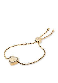 Michael Kors Gold-Tone Halo Heart Slider Bracelet