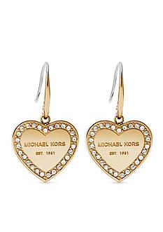 Michael Kors Gold-Tone Halo Heart Drop Earring