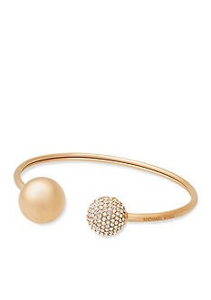 Michael Kors Jewelry Gold-Tone and Crystal Cuff Bracelet
