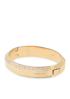 Michael Kors Jewelry Logo and Crystal Bangle Bracelet