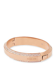 Michael Kors Jewelry Logo and Crystal Bangle Bracelet