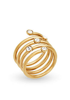Michael Kors Jewelry Spiral and Crystal Ring