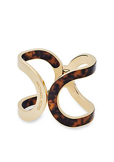 Michael Kors Gold-Tone and Tortoise Cuff Bracelet