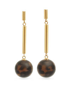 Michael Kors Gold-Tone Tortoise Pendant Drop Earrings