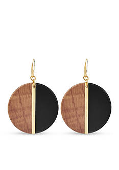 Michael Kors Jewelry Gold-Tone and Black Drop Earrings