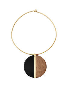 Michael Kors Jewelry Gold-Tone and Black Collar Necklace