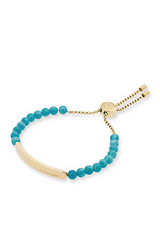Michael Kors Gold-Tone Lagoon Beaded Slider Bracelet