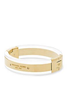Michael Kors Jewelry Gold-Tone Studded Bangle Bracelet