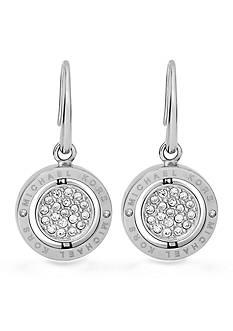 Michael Kors Jewelry Silver-Tone Flip Glitz Drop Earrings