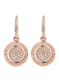 Michael Kors Rose Gold-Tone Flip Glitz Drop Earrings