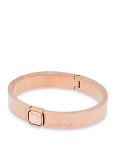 Michael Kors Rose Gold-Tone Locking Closure Bracelet