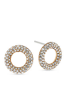Michael Kors Gold-Tone Pave Stud Earrings
