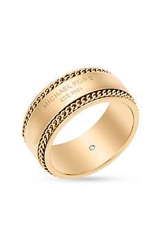 Michael Kors Gold-Tone Barrel Band Ring
