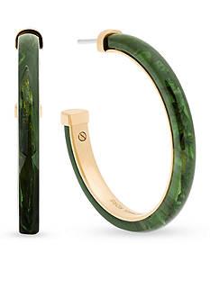 Michael Kors Gold-Tone and Green Jade Earrings