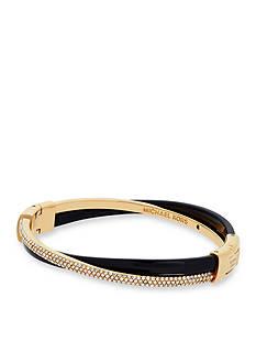 Michael Kors Gold-Tone Clear Push Button Bracelet