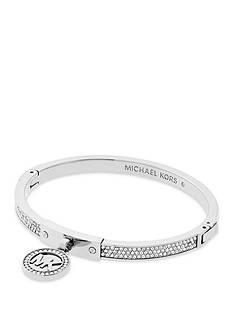 Michael Kors Silver-Tone Fulton Hinge Bracelet