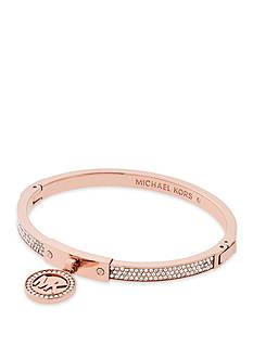 Michael Kors Jewelry Rose Gold-Tone Fulton Hinge Bracelet