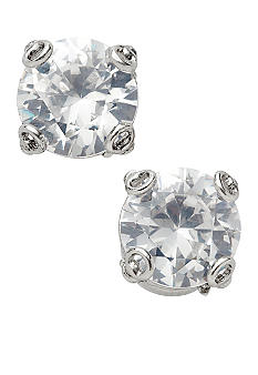Fossil Clear Crystal Cubic Zirconia Stud Earrings