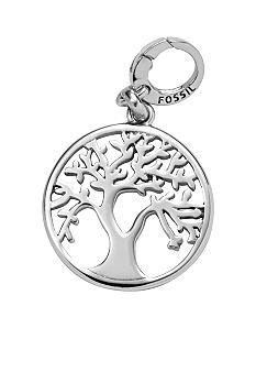 Fossil Tree Cutout Charm