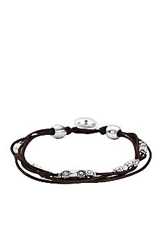Fossil® Multi-Strand Chocolate Leather Wrist Wrap