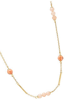 Fossil Beaded Strand Necklace on Gold-Tone Chain