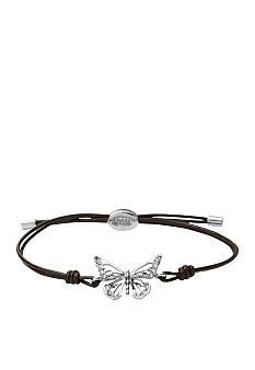 Fossil Butterfly Adjustable Wrist Wrap